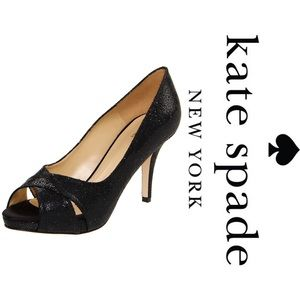 NWOB Kate Spade New York Billie Pump Black Glitter